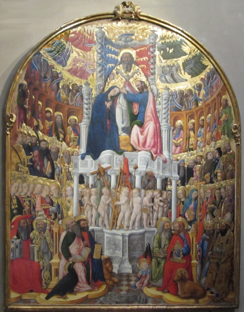Fig 11 Antonio Vivarini Coronation of the Virgin 1444 San Pantaleone Venice sm