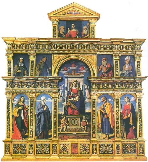 Fig 11B Cima da Conegliano & Vitor da Feltre Polyptych 1513 Sant Anna of Capodistria