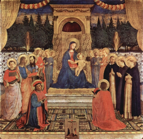 Fig 15 Fra Angelico Altarpiece of St Mark Museum of S Marco Florence