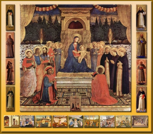 Fig 15 Fra Angelico Altarpiece of St Mark reconstruction Louis Garden