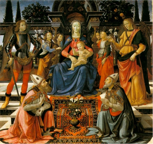 Fig 7 Domenico Ghirlandaio Madonna & Child with Saints c1483 Altarpiece of Gesuati now Uffizi