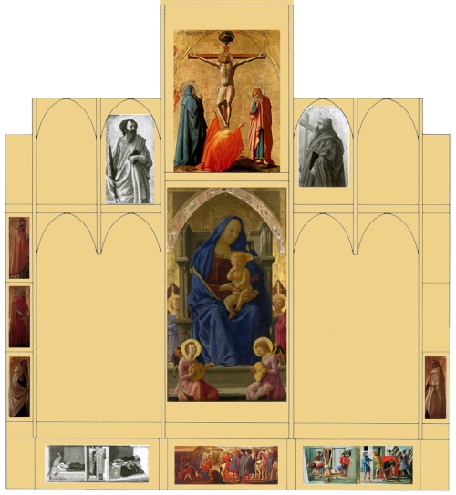 Fig a Reconstruction of Masaccio Pisan altarpiece after Christa Gardner von Teuffel colour