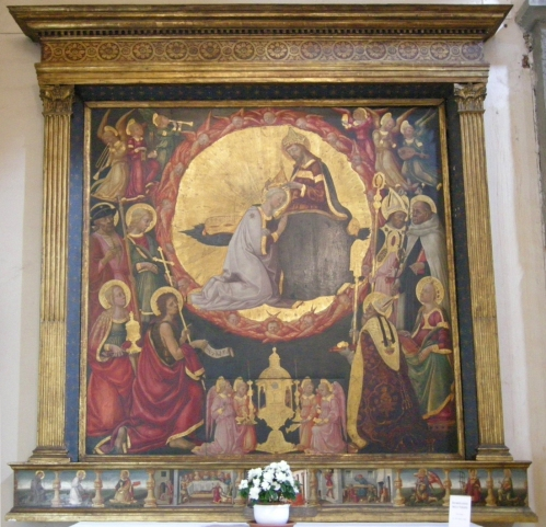 Fig d Neri di Bicci Coronation of the Virgin 1460 San Giovannino dei Cavalieri sm