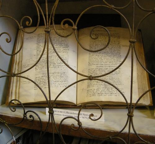 Fig d Neri di Bicci Ricordanze Biblioteca degli Uffizi sm