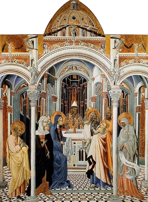 Fig e Giovanni di Paolo Presentation of Christ in the Temple Pinacoteca Nazionale Siena