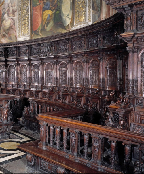 Fig g Francesco del Tonghio choir stalls Siena Cathedral