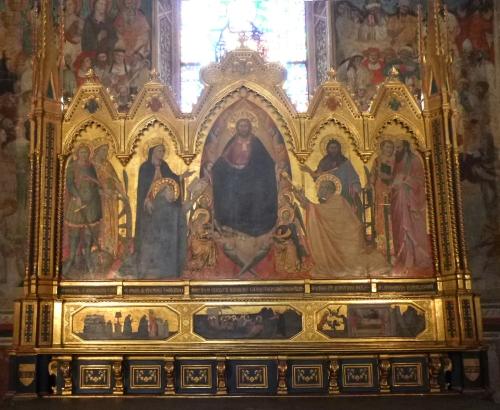 Orcagna Strozzi Altarpiece 1354to57 Santa Maria Novella Florence MP sm