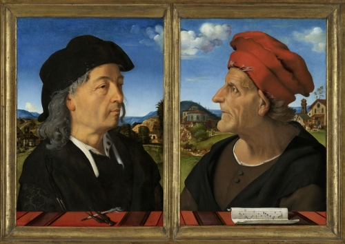 Piero di Cosimo Portraits of Giuliano San Gallo & his afther Francesco Giamberti da Sangallo 1482to85 Rijksmuseum