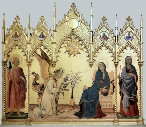 Simone Martini & Lipppo Memmi Annunciation 1333 Uffizi