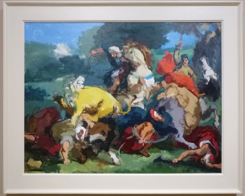 Robert Dukes After Delacroix A lion hunt sm