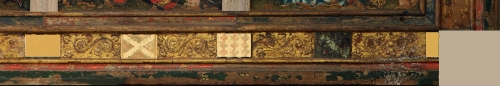 Despenser Retable before restoration Bottom rail right sm