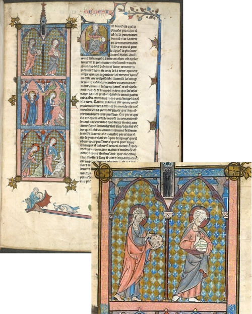 Harley MS 616 British Library c1313-09 AND detail sm