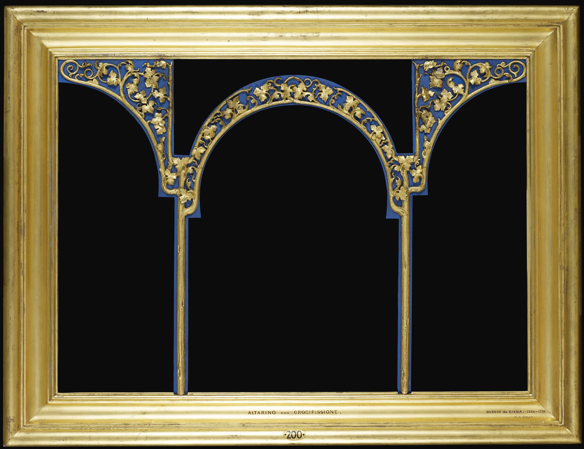 frame for rcin 400095 di buoninsegna triptych crucifixion and