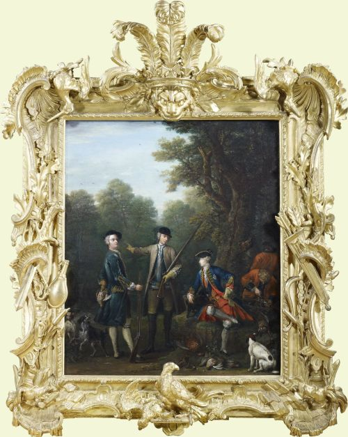 Frame for RCIN 402421 Wootton The Shooting Party c1740