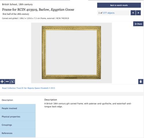 Frame for RCIN 403919 Barlow Egyptian Goose
