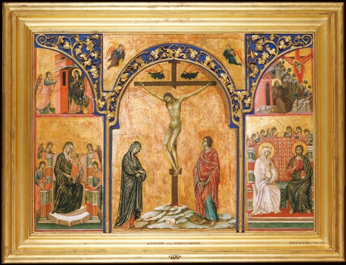 Frame for RCIN 400095, Di Buoninsegna, Triptych: Crucifixion and