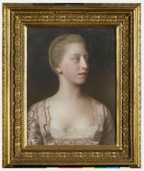 Frame & pic RCIN 400896 Liotard Princess Augusta later Duchess of Brunswick second half C18