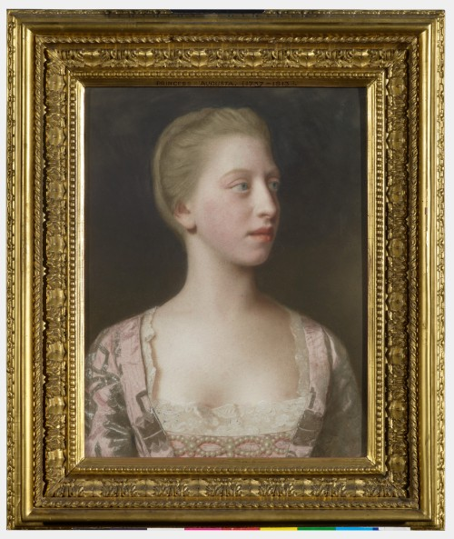 Frame & pic RCIN 400896 Liotard Princess Augusta later Duchess of Brunswick second half C18