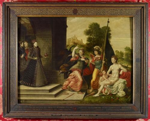 Frame & pic RCIN 403446 Eworth Elizabeth I & the Three Godesses c.1550-1600