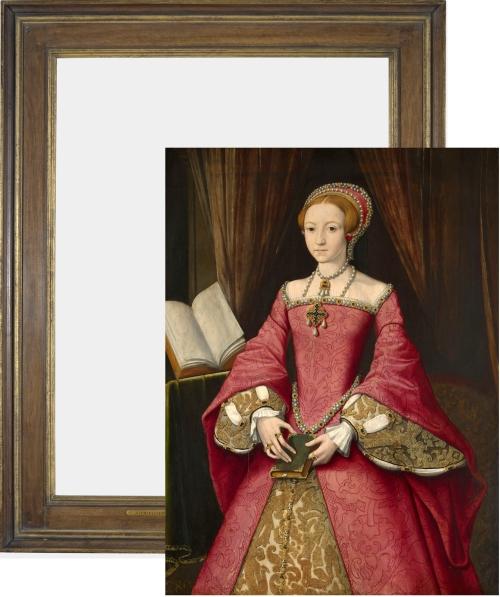 Frame & pic RCIN 404444 Scrots Princess Elizabeth C20