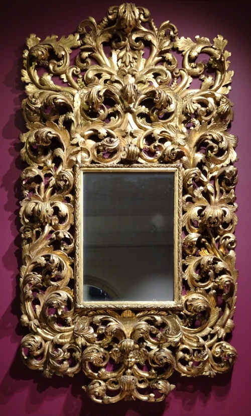 4 Italian Baroque lookinhg glass frame 1680to1710 V & A sm