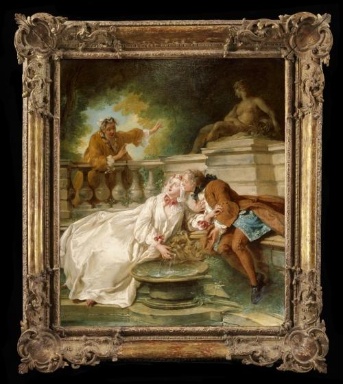 518A-1882; 518-1882 Oil painting The Alarm; La Gouvernante Fidèle; Oil painting, 'The Alarm (La Gouvernante Fidèle)', Jean-François de Troy, French school, 1723 Jean-François de Troy (1679-1752) Paris 1723 Oil on canvas