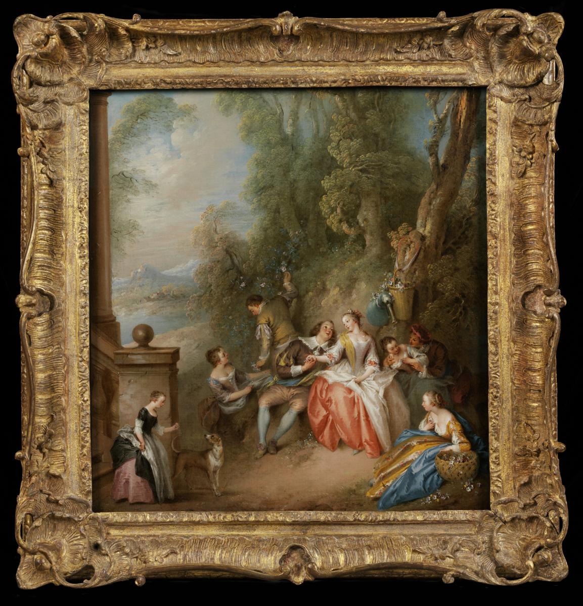 jean baptiste pater fte champtre 1725 35 oc victoria and albert museum london museum no 543 1882 - Museum Frames