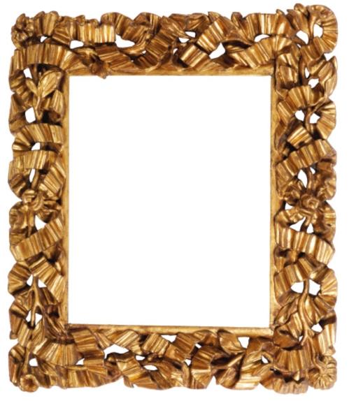 Lot 100 pierced Lombardic ribbon frame C17