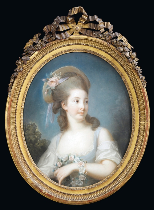 5 Vigee Le Brun Jeune fille en rosière dated 1777 Christies 2009