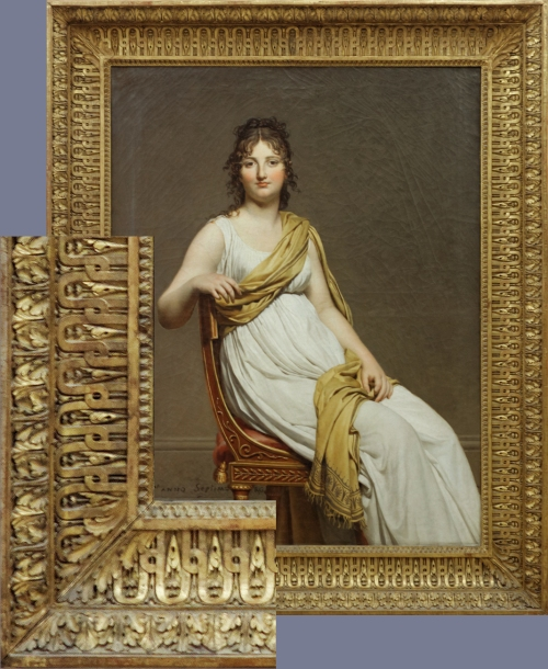DAVID Mme de Verninac 1799 Louvre & corner
