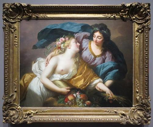 Elisabeth Vigée Le Brun Peace leading Abundance Louvre 2 sm