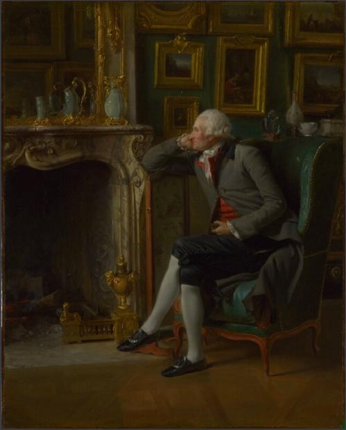 Henri Danloux The Baron de Besenval in his salon de compagnie, 1791, National Gallery, London