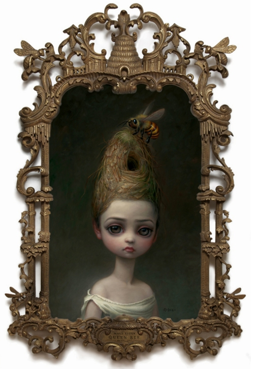17 Mark Ryden Queen Bee 2013 carved frame