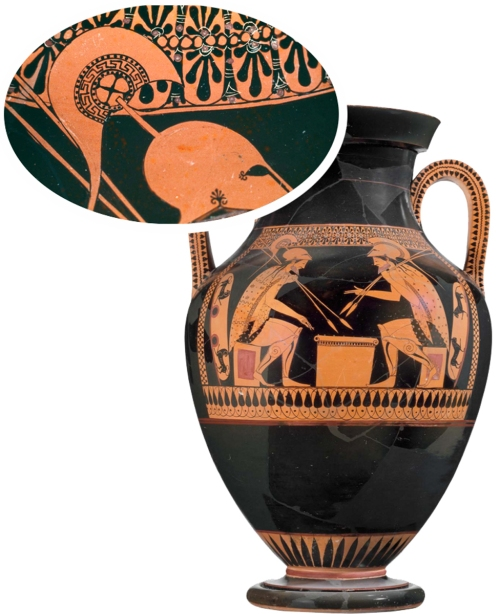 2 Greek amphora & detail