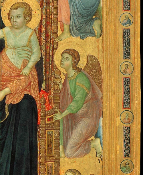 5 Duccio Rucellai 1285 Madonna detail of roundels