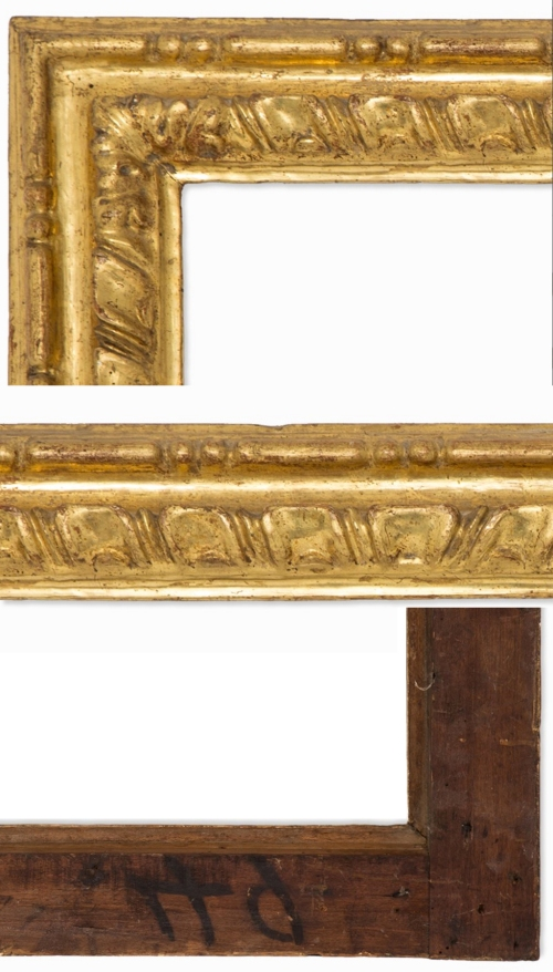 Lot 66 Sienese gadrooned frame C17 details