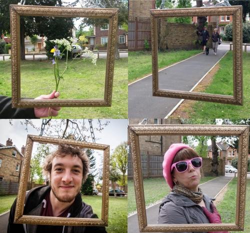 Hanging frame x 4