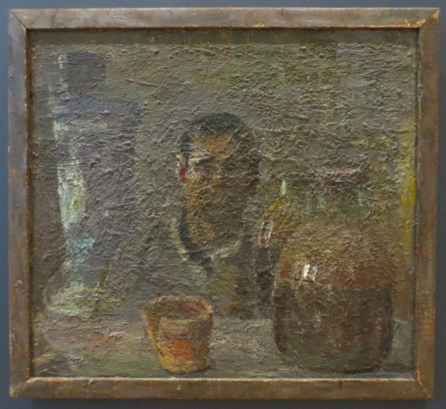 Nicolai Tuzhilin Self portrait in own frame 2016 exh State Russian Museum of self portraits