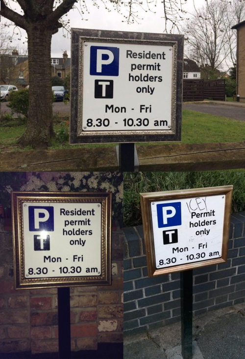 Parking signs all