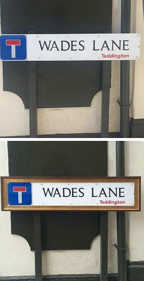Wades Lane before & after