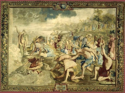 3-tapestry-after-poussin-crossing-red-sea