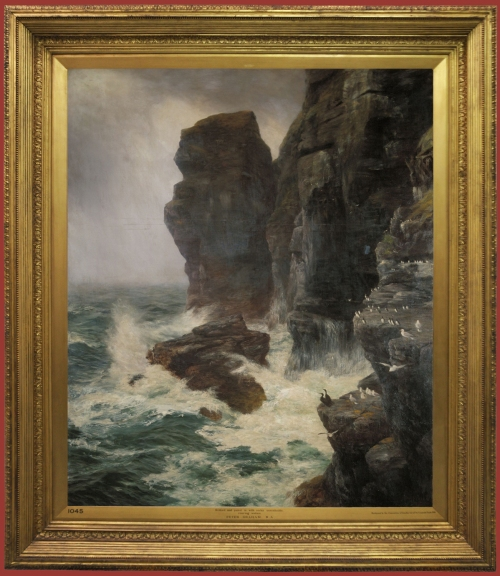peter-graham-ribbed-paled-by-rocks-unscalable-roaring-waters-1885-guildhall-in-frame-sm