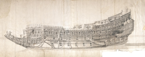 charles-i-flagship-the-sovereign-of-the-seas-morgan-drawing