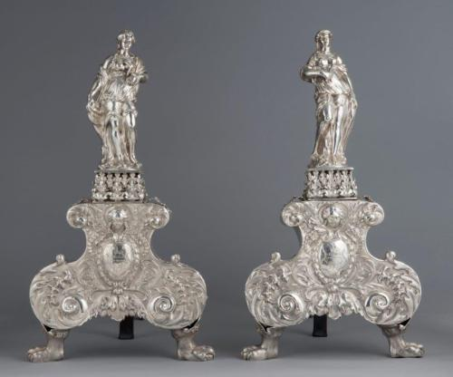 silver-andirons
