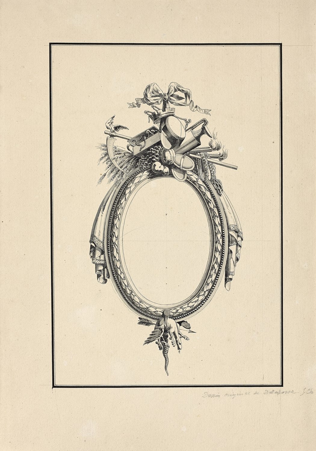 Drawings for frames by Jean-Charles Delafosse (1734-89) | The Frame Blog