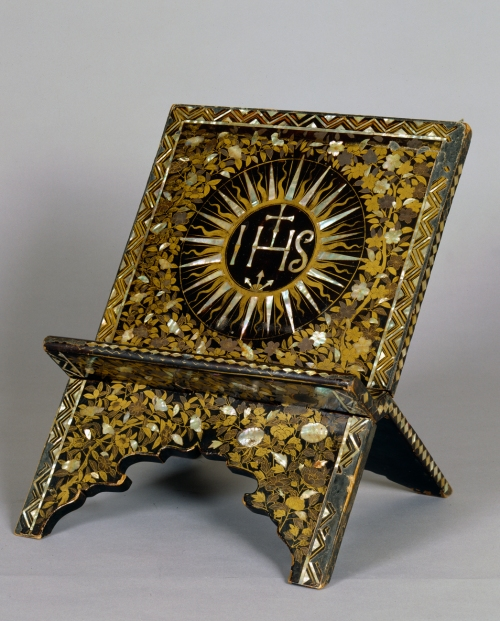 Lecturn, ca. 1600 Lacquer, gold, shell Museum purchase Peabody Essex Museum E76703