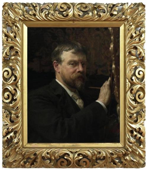 18-alma-tadema-self-portrait-c1897-in-vasari-corridor-uffizi-sm