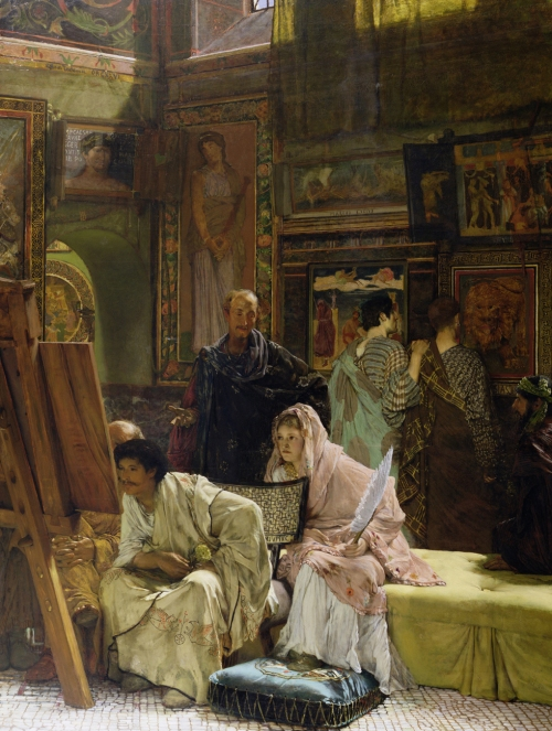 THA37360 Credit: The Picture Gallery, 1874 (oil on canvas) by Alma-Tadema, Sir Lawrence (1836-1912) � Towneley Hall Art Gallery and Museum, Burnley, Lancashire/ The Bridgeman Art Library Nationality / copyright status: English / out of copyright