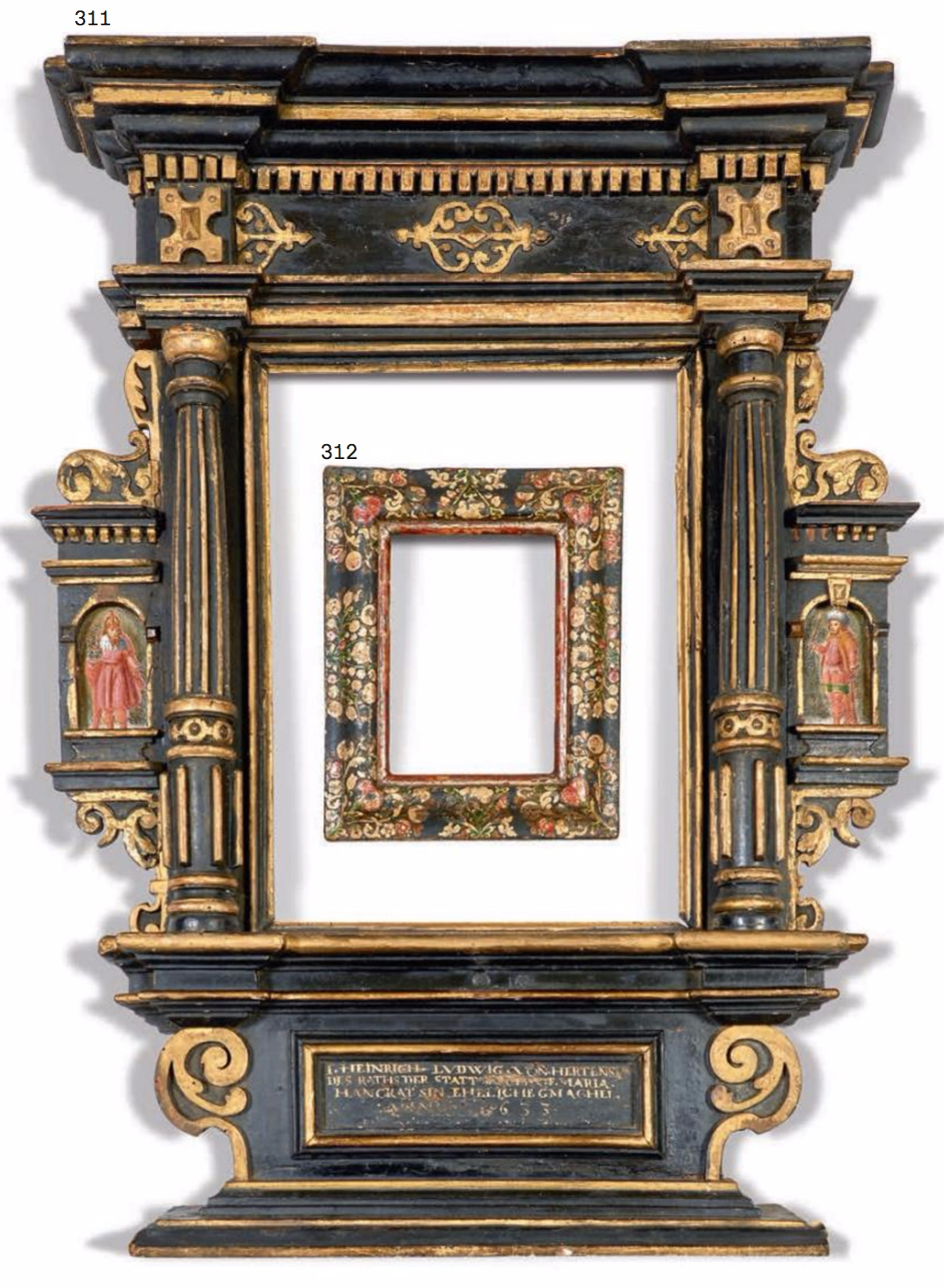 Antique frame sale the frame blog lot 311 312 germanitalian venetian 17th 18th century frames jeuxipadfo Image collections
