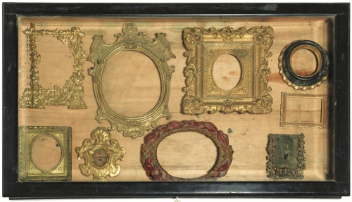 t-collection-of-9-small-frames-c18-to-c19-copper-bronze-wood-poggio-bacciolini-pandolfini-23-mar-2017-lot-95